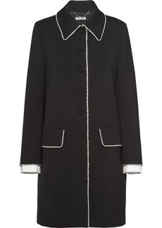 Miu Miu crystal-embellished single-breasted coat