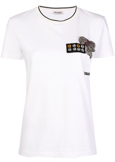 Miu Miu crystal embellished T-shirt