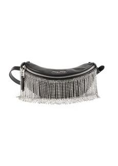 Miu Miu Crystal-Fringe Convertible Leather Belt Bag