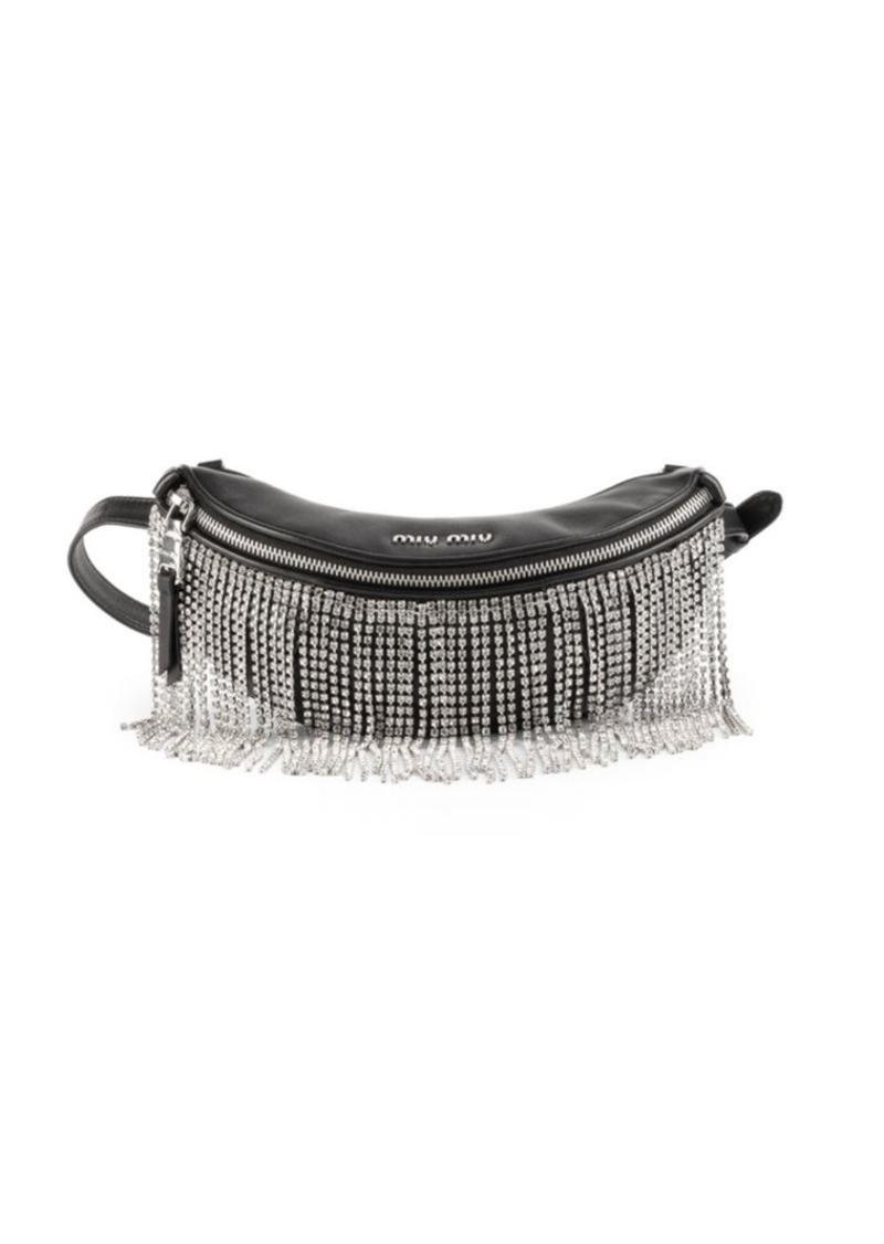 Miu Miu Crystal-Fringe Convertible Leather Belt Bag  23cbaba5090b7