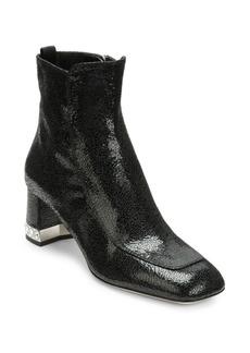 Miu Miu Crystal Heel Leather Bootie