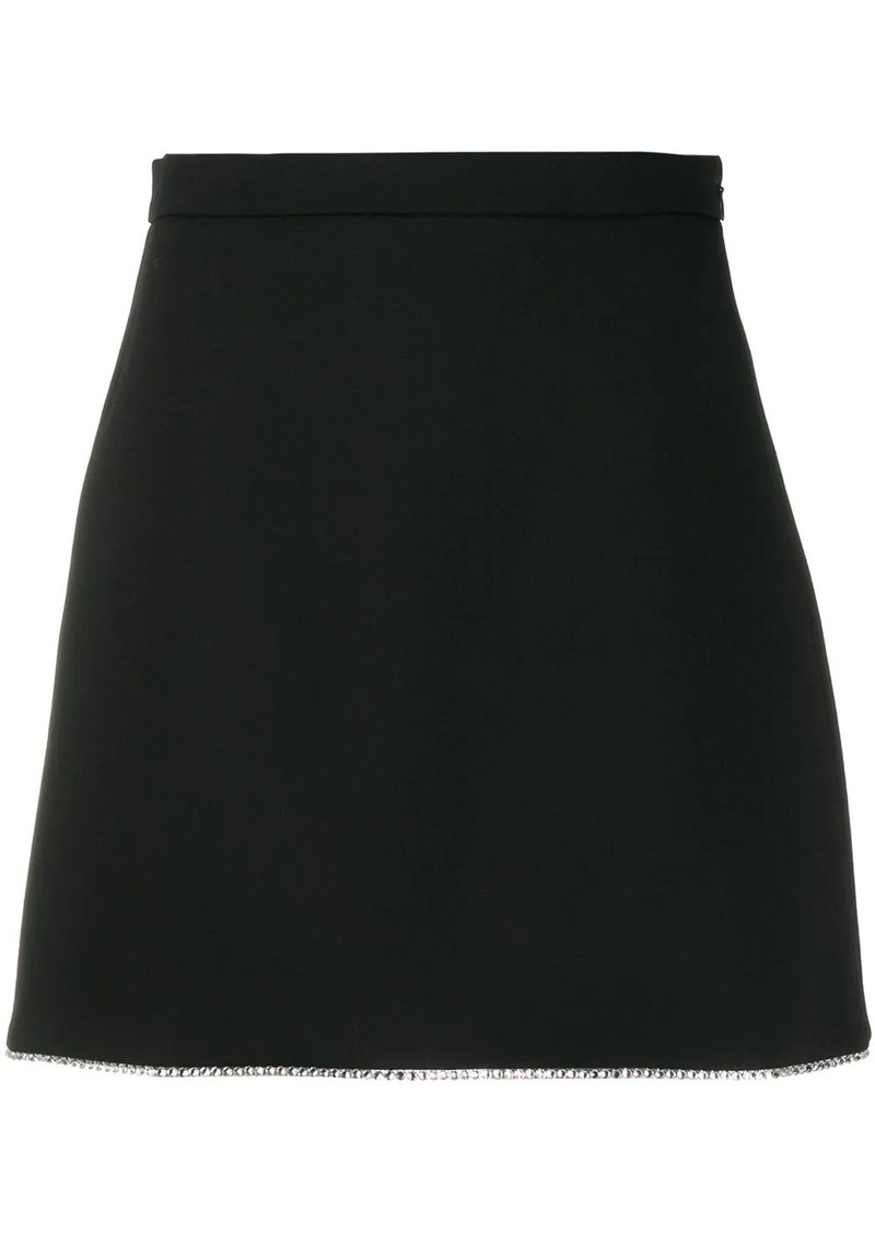 Miu Miu crystal hem mini skirt