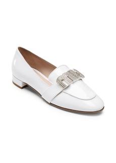 Miu Miu Crystal Patent Leather Loafers