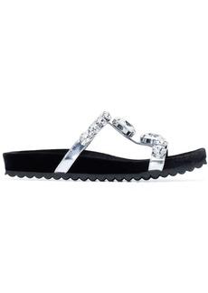Miu Miu crystal strap flat sandals