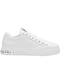 Miu Miu crystal studded low sneakers