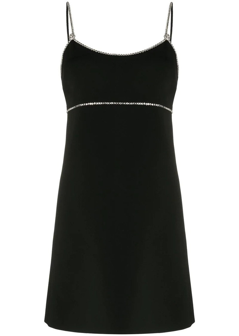 Miu Miu crystal trim short dress