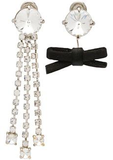 Miu Miu crystals and bow earrings