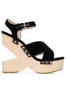 Miu Miu cut-out wedge sandals