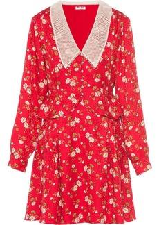 Miu Miu Daisy Bouquet flared dress
