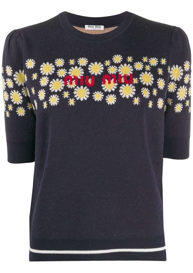 Miu Miu Daisy knitted top