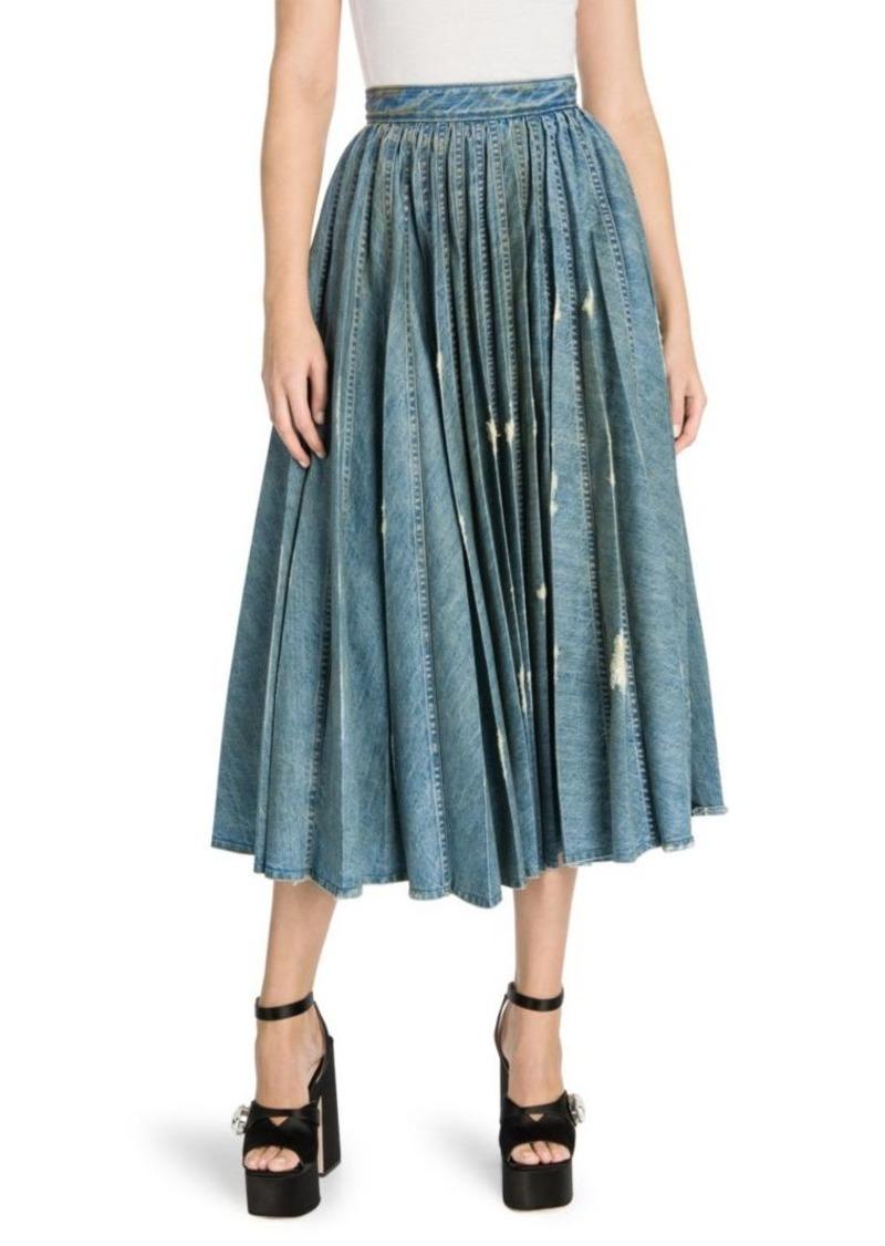 b84adc9aa Miu Miu Denim Pleated Midi Skirt   Skirts