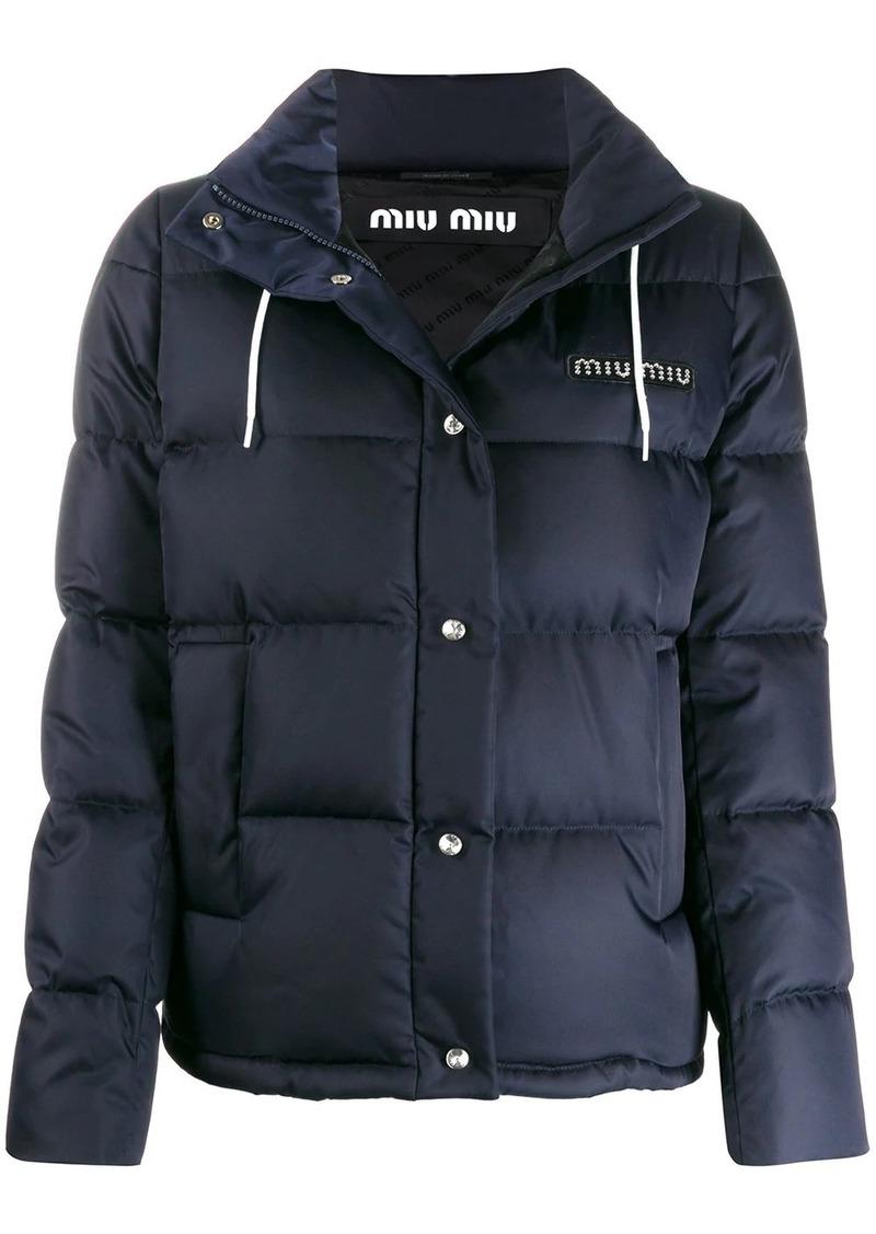 Miu Miu detachable hood puffer jacket
