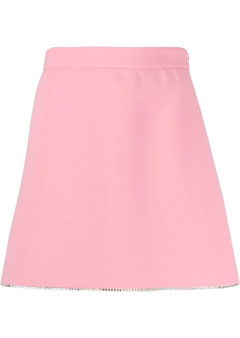 Miu Miu diamante detail high waisted skirt