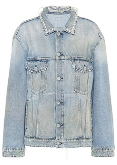 Miu Miu distressed denim jacket