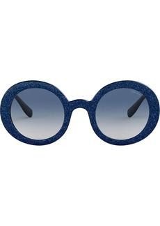 Miu Miu Divisa Glitter round frame sunglasses