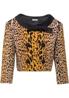 Miu Miu double-breasted leopard pattern jacket
