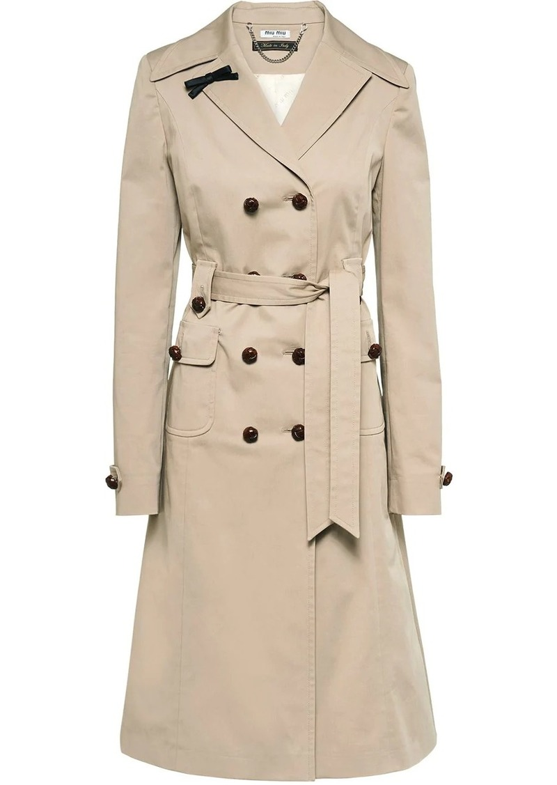 Miu Miu double-breasted trench coat
