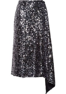 Miu Miu draped sequined skirt