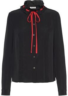 Miu Miu drawstring blouse