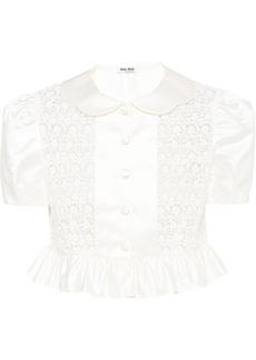 Miu Miu Duchess lace-panelled blouse