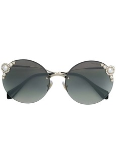 Miu Miu embelished pearls sunglasses