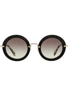 Miu Miu embellished circle sunglasses