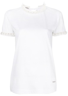 Miu Miu embellished crew-neck T-shirt