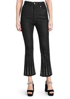 Miu Miu Embellished Flared Jeans