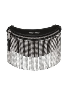 Miu Miu embellished fringes belt bag