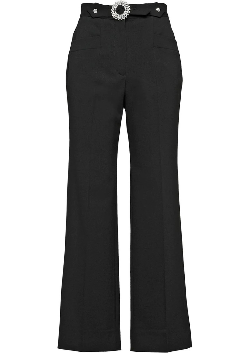 Miu Miu embellished high-waisted trousers