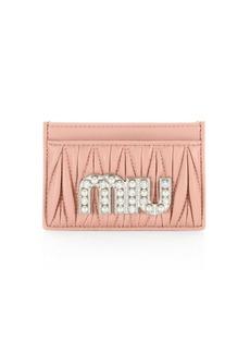 Embellished Leather Card Case