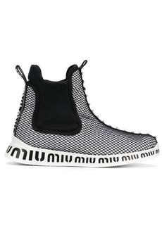 Miu Miu embellished mesh sneakers