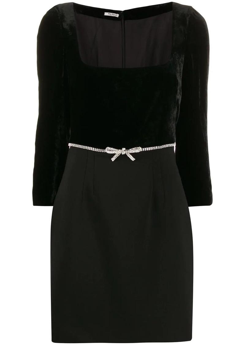 Miu Miu embellished mini dress