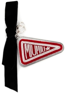 embellished Miu Miu flag keyring