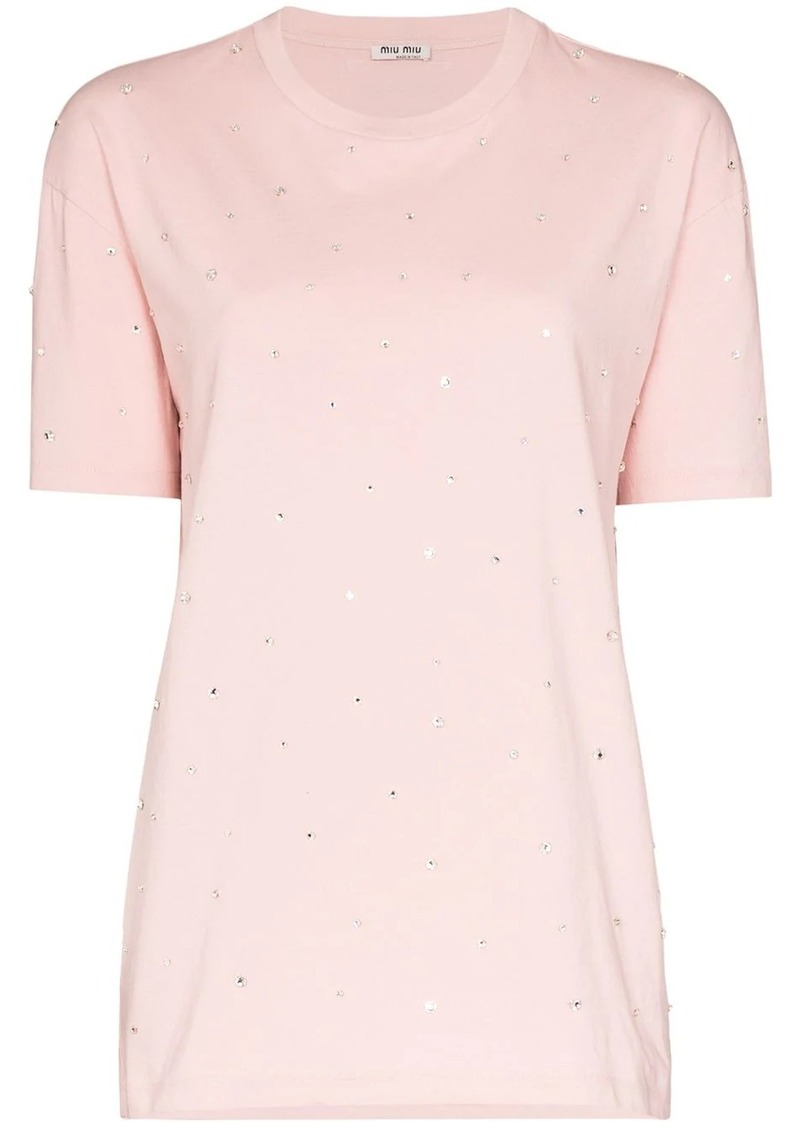 Miu Miu embellished short-sleeve T-shirt