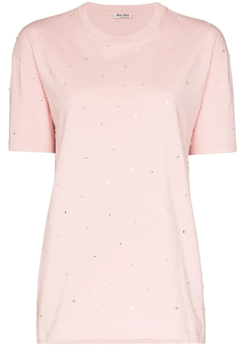 Miu Miu embellished short-sleeve T-shirt