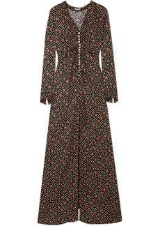 Miu Miu Embellished Silk-jacquard Maxi Dress