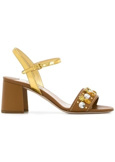 Miu Miu embellished strap sandals