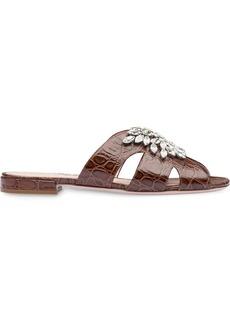 Miu Miu embossed croc sandals