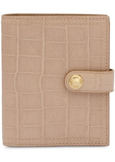 Miu Miu embossed grid logo wallet