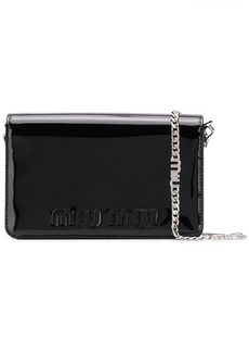 Miu Miu embossed logo cross-body bag