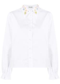 Miu Miu embroidered-collar shirt
