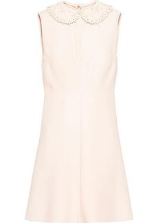 Miu Miu embroidered collar sleeveless mini dress