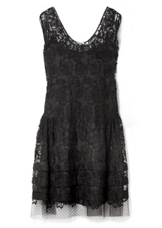 Miu Miu Embroidered Cotton-blend Lace Dress