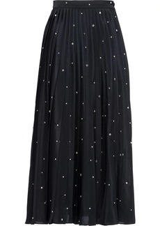 Miu Miu embroidered crepe de chine skirt