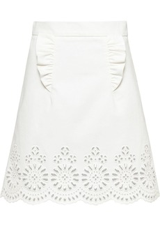 Miu Miu embroidered lace motif skirt