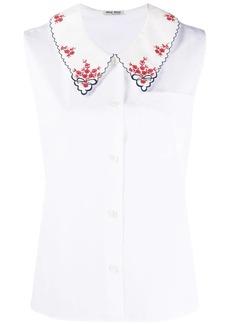 Miu Miu embroidered sleeveless shirt