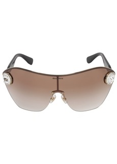 Miu Miu Enchant Metal Sunglasses W/ Crystals