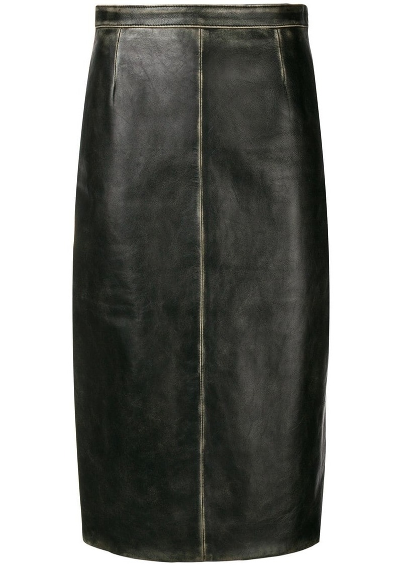 Miu Miu faded detail skirt