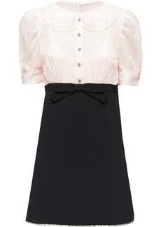 Miu Miu Faille cady and organza dress